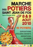 Marché potier Terre Vivante à Saint Jean de Fos (Hérault) les 8 et 9 août 2015
