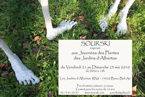 21 au 23 mai 2010 | Sourski expose aux Jardins d'Albertas à Bouc-bel-Air