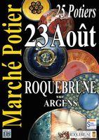 Marché potier de Roquebrune sur Argens (Var) le dimanche 23 août 2015