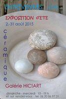 Exposition céramique Gudrun Schirmer à Entrevennes - Alpes de Haute Provence | Galerie Hic!Art du 2 au 31 août 2015