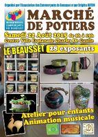 Marché potier Le Beausset (Var) le samedi 22 août 2015, céramiques et poteries