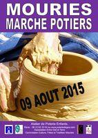 Marché potier de Mouriès (Bouches du Rhône) le 9 août 2015 - céramique, poterie culinaire, arts de la tables, sculptures, objets de décoration, pièces uniques