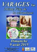 Fête de la céramique à Varages (Var) le dimanche 9 août 2015 - céramique et poterie en Provence, musée de la faïence