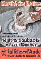 Marché potier de Sallèles d'Aude les 14 et 15 août 2015 | céramique et poterie, arts de la table et objets de décoration, bijoux...