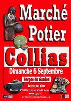 Marché potier de Collias (Gard) le dimanche 6 septembre 2015, céramique, poterie utilitaire et décorative