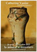 Céramiques et papier, exposition Catherine Vanier à la Galerie La Mostra de Moustiers jusqu'au 1er novembre 2015