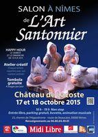 Foire aux santons, Salon de l'Art Santonnier à Nïmes (Gard) Château de Lacoste, 17-18 octobre 2015, foire aux santons et crèches