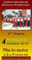 Foire aux santons, Fête du santon 3-11 octobre 2015, 9ème chapitre de la Confrérie à Pierrevert - Alpes de Haute Provence