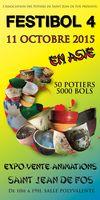 Festibol, exposition vente de bols céramique et poterie à St Jean de Fos (Hérault) le 11 octobre 2015