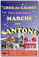 Foire aux santons au Cros de Cagnes (Alpes Maritimes) les 5 et 6 décembre 2015 - marché santonnier