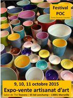 Festival POC, l'Atelier Céladon céramique au salon Teavora à Marseille les 9, 10 et 11 octobre 2015 - artisanat d'art au Portes ouvertes Consolat