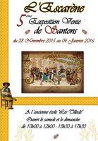 Exposition-vente de santons à l'Escarène (Alpes Maritimes) les week-ends du 28 novembre au 4 janvier 2016