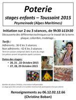 Stages de poterie enfants à la Toussaint2015 | Peymeinade (Alpes Maritimes), Christine Boban, Céramic'Arts