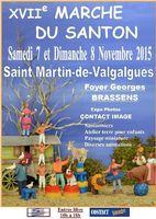 Foire aux santons - Marché du santon de Saint Martin de Valgalgues (Gard), les 7 et 8 novembre 2015 - crèches et santonniers