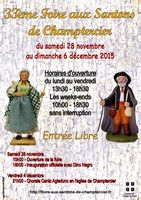 Foire aux santons de Champtercier (Alpes de Haute Provence), du 28 novembre au 6 décembre 2015