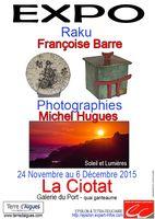 Exposition Raku Françoise Barre céramique | galerie du Port à la Ciotat du 24 novembre au 6 décembre 2015