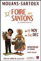 Foire aux santons de Mouans Sartoux (Alpes Maritimes), du 13 novembre au 24 décembre