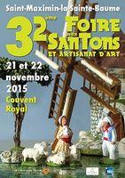 Foire aux santons de Saint-Maximin-la-Sainte-Baume les 21 et 22 novembre 2015 - santons et crèches de Noël