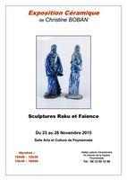 Exposition céramique, Christine Boban à Peymeinade (Alpes Maritimes) du 23 au 28 novembre 2015