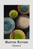 Exposition-ventes de céramiques à l'atelier de Martine Kistner à La Cadière d'Azur, du 4 au 7 décembre 2015 - objets de décoration, sculptures et art de la table