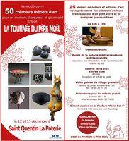 50 créateurs métiers d'art à St Quentin la Poterie (Gard) pour un week-en chaleureux et gourmand les 12 et 13 décembre 2015