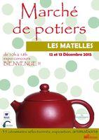 Marché potier des Matelles (Hérault) les 12 et 13 décembre 2015 - arts de la table, objets déco, pièces uniques, bijoux