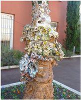 La Dragonne à Draguignan | une sculpture céramique à l'Hôtel de Ville offerte par 2 céramistes