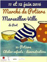 Marché potier de Marseillan les 11 et 12 juin 2016 - céramique et poterie