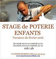 Stages de poterie pour enfants à Marseille, vacances de février 2016, avec Le Potier Marseillais