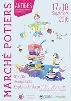 Marché potier d'Antibes les 17 et 18 septembre 2016 - Journées du Patrimoine, céramique et poterie