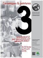 Exposition au Centre Céramique de Giroussens (Tarn) : 3 - du 13 février au 10 avril 2016