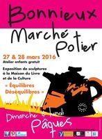Marché potier de Bonnieux (Vaucluse) les 27 et 28 mars 2016 - exposition, céramique et poterie