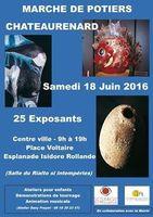 Marché potier de Châteaurenard (Bouches du Rhône) le samedi 18 juin 2016 - céramique et poterie