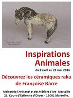 Inspirations Animales, exposition métiers d'art à la MAMA de Marseille du 8 avril au 21 mai 2016