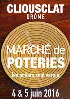 Marché potier de Cliousclat (Drôme) les 4 et 5 juin 2016
