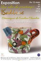 Exposition à la Maison de la poterie de Sadirac (Gironde) du 12 mars au 7 mai 2016