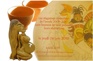 24 juin 2010 | Les élèves de l'Ecole de la Céramique Provence présentent leurs créations