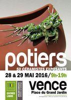 Marché potier de Vence (Alpes Maritimes) les 28 et 29 mai 2016 - Céramique et poterie