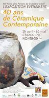 Exposition céramique à Nontron (Dordogne) du 16 avril au 28 mai 2016 - Marché potier, 40 ans Bussière Badil