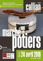 Marché potier de Callian (Var) le 24 avril 2016 - Céramique et poterie au Château Goërg