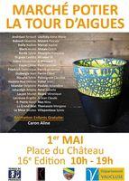 Marché potier de La Tour d'Aigues (Vaucluse) le 1er mai 2016 - céramique et poterie