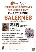 JEMA - Journées Européennes Métiers d'Art les 1, 2 et 3 avril 2016 - Terra Rossa Salernes (Var)