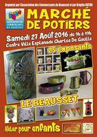 Marché potier Le Beausset (Var) le 27 août 2016