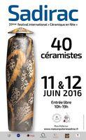 Céramique en fête à Sadirac (Gironde) les 11 et 12 juin 2016 - marché potier, conférences, initiation, cuisson raku nocturne...