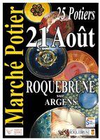 Marché potier de Roquebrune sur Argens (Var) le 21 août 2016 - poterie, céramique