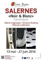 Exposition céramique, Noir & Blanc - Terra Rossa, Salernes jusqu'au 27 juin 2016 (Var) Marie Cagnasso, Simone Duthoy et Pascale Ladevèze
