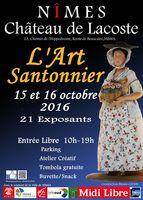 Foire aux santons, L'Art santonnier à Nîmes (Gard), Château de Lacoste les 15 et 16 octobre 2016