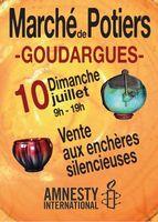 Marché potier de Goudargues le 10 juillet 2016 (Gard) - céramique et poterie
