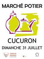 Marché potier de Cucuron (Vaucluse) le 31 juillet 2016 - céramique et poterie