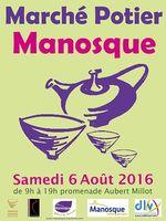 Marché potier de Manosque le samedi 6 août 2016 - céramique et poterie
